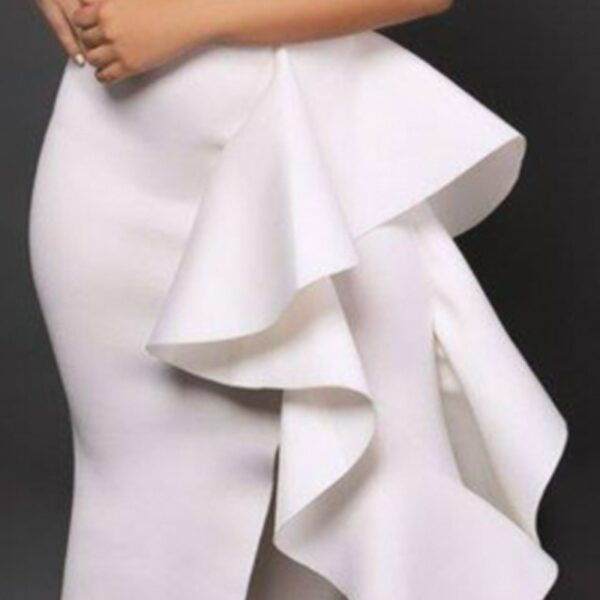 Robe Volantée Blanche   Soirée Blanche