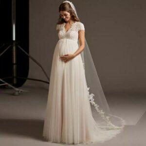 Robe De Mariée Grossesse | Soirée Blanche