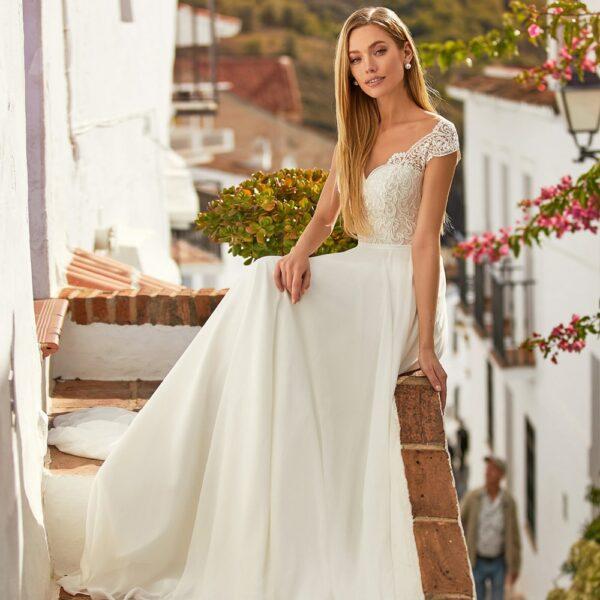 Robe De Mariée Sobre Blanche | Soirée Blanche
