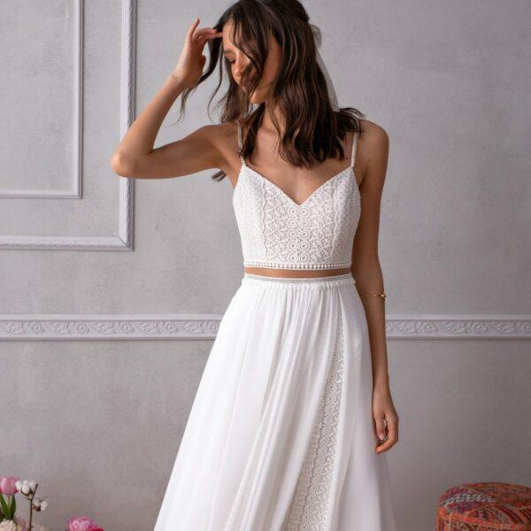 Robe De Mariée 2 Pièces   Soirée blanche