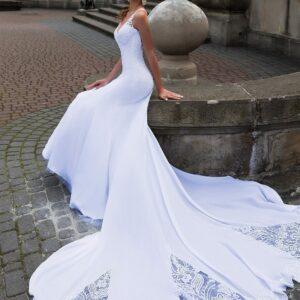 Robe De Mariée Sirène Longue Traine | Soirée Blanche