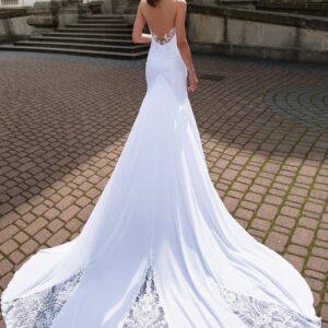 Robe De Mariée Sirène Longue Traîne | Soirée Blanche