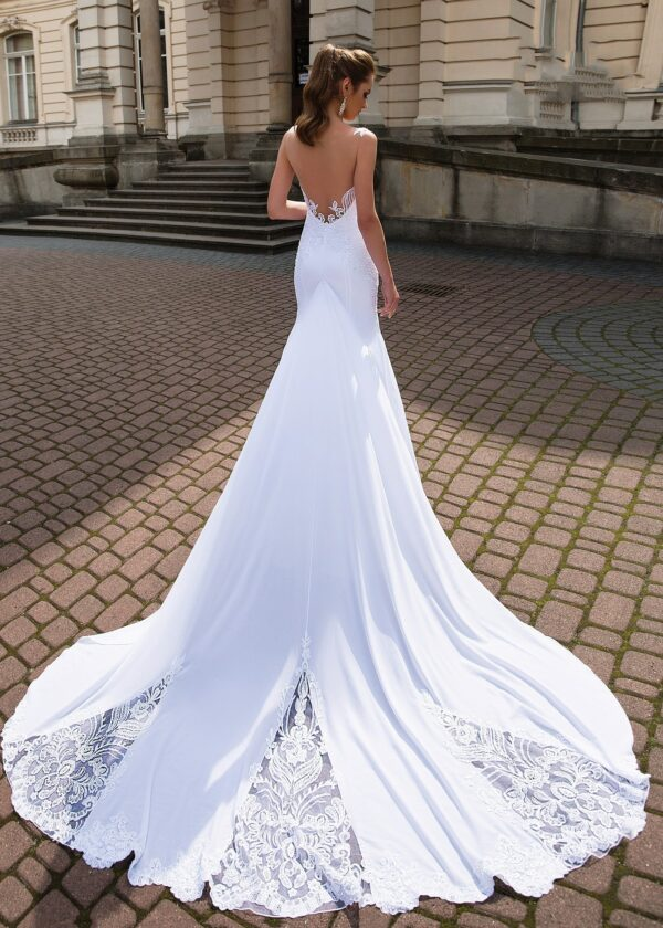 Robe De Mariée Sirène Longue Traîne   Soirée Blanche