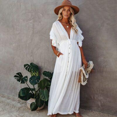 Robe De Plage Blanche   Soirée Blanche