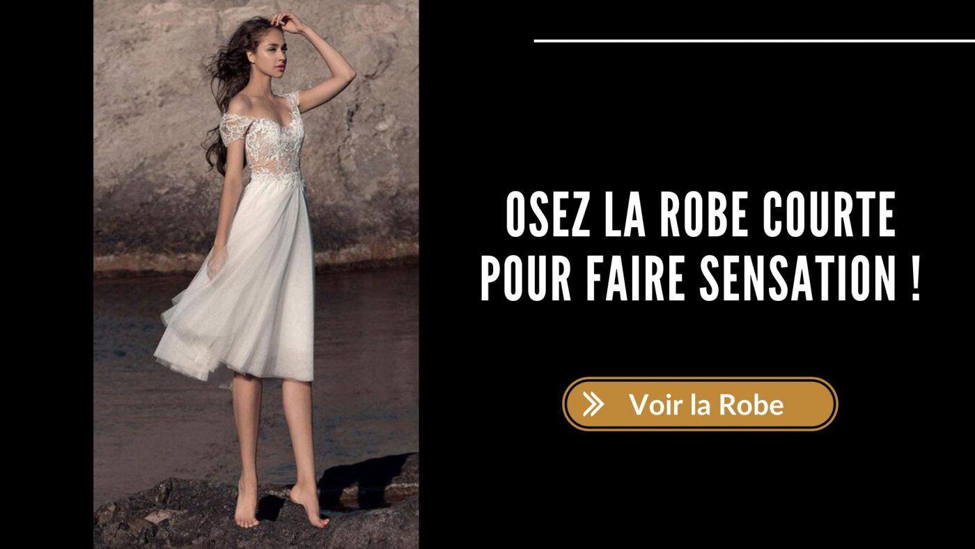 robe de mariée courte mariage civil