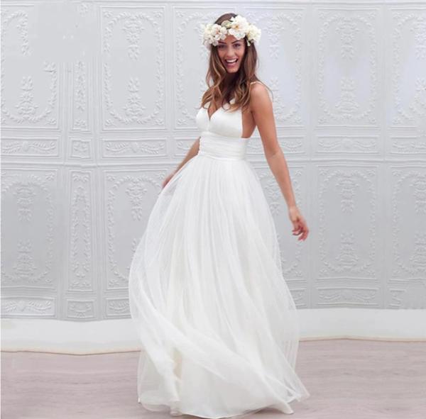Robe De Mariée Très Simple | Soirée Blanche