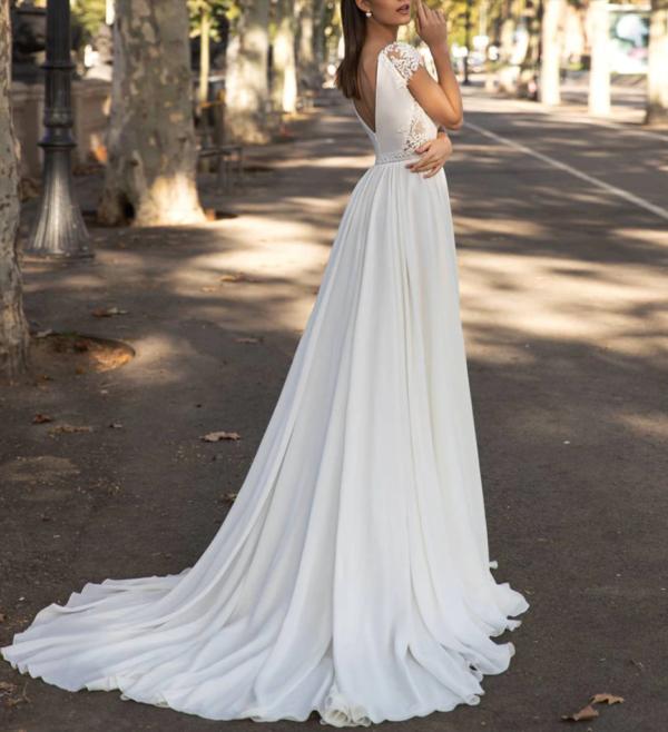 Robe De Mariée Transparente | Soirée Blanche