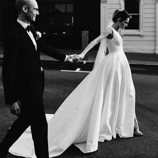 Robe De Mariée Bouffante Blanche | Soirée Blanche