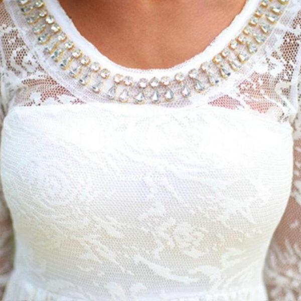 Robe De Mariée Fluide Courte Blanche | Soirée Blanche