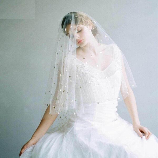Voile De Mariée Fantaisie Blanc | Soirée blanche