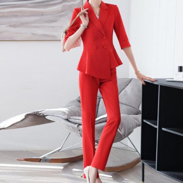 Tailleur Pantalon Femme Blanc | Soirée Blanche