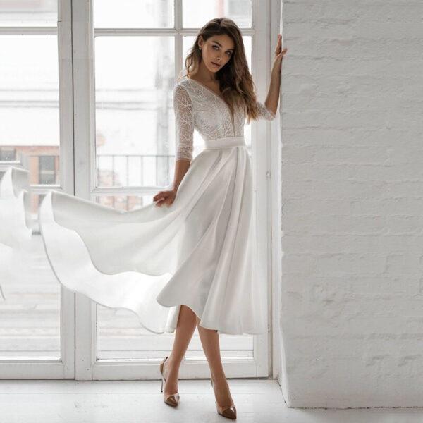 Robe De Mariée Courte Et Chic Blanche | Soirée Blanche