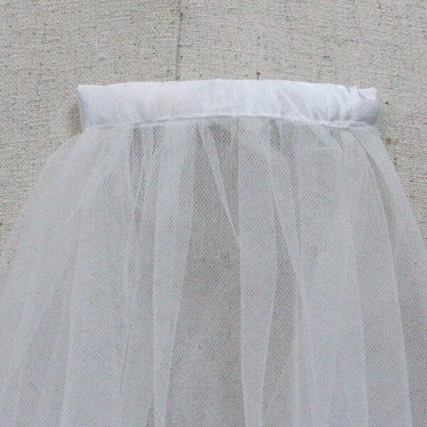 Voile De Mariée Avec Peigne | Soirée Blanche