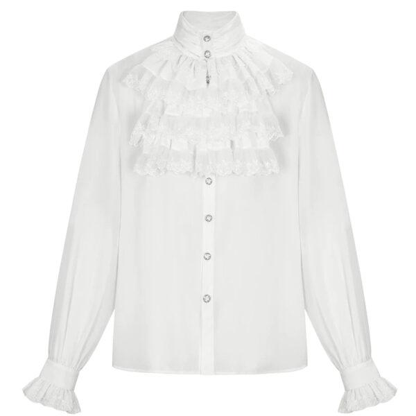 Chemise Blanche Victorienne Homme | Soirée Blanche