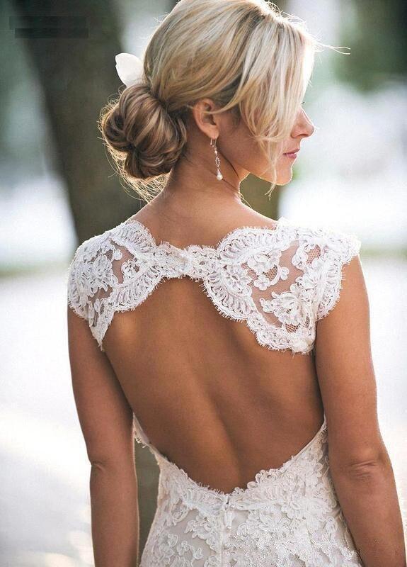 Robe De Mariée En Dentelle Blanche | Soirée Blanche