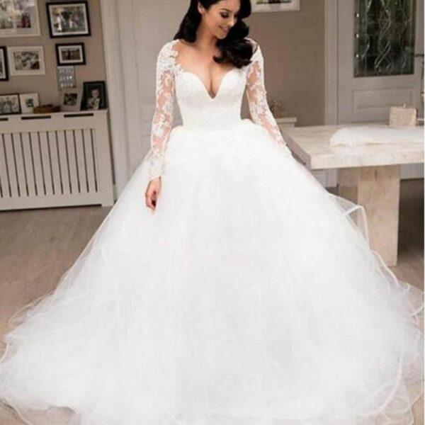 Robe De Mariée Pour Petite Poitrine | Soirée Blanche