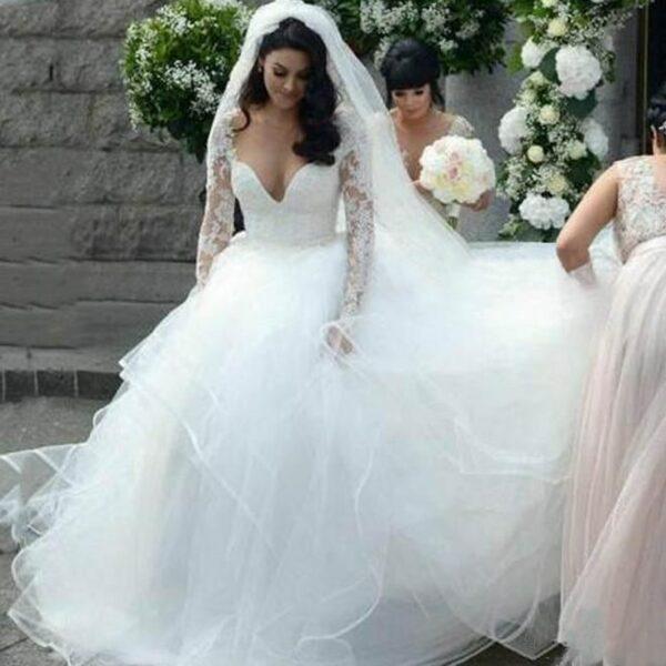 Robe De Mariée Pour Petite Poitrine Blanche | Soirée Blanche