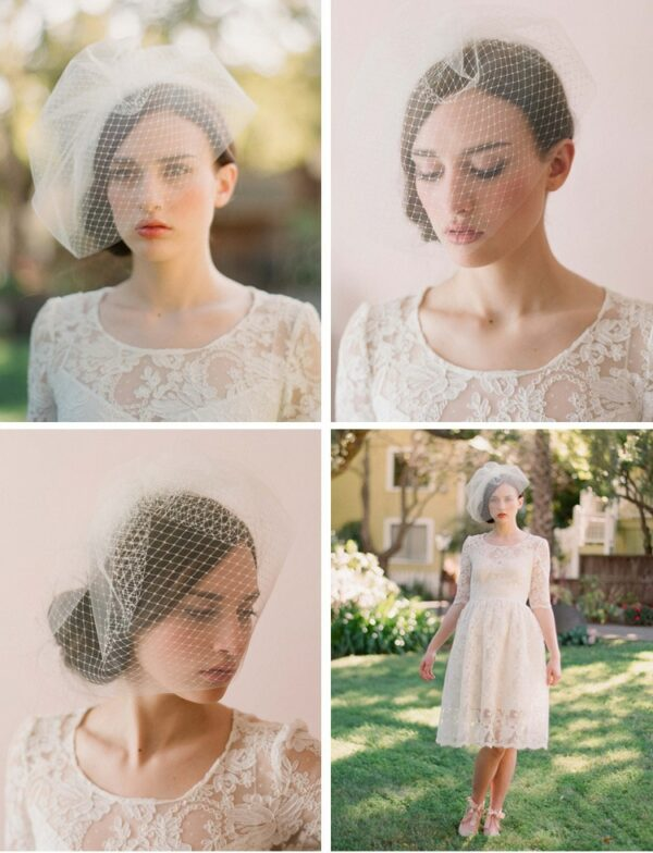 Chapeau Voile Mariage Blanc | Soirée Blanche