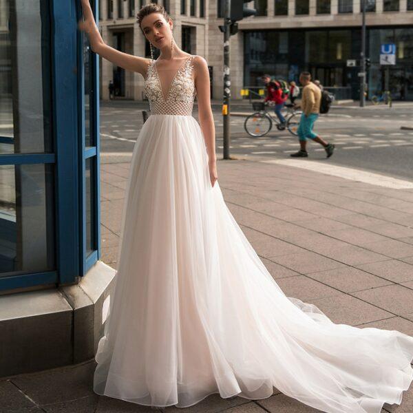 Robe De Mariée Champêtre Chic Blanche | Soirée Blanche