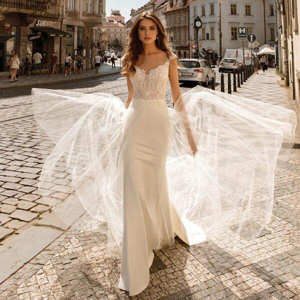 Robe De Mariée Sirène Bohème | Soirée Blanche