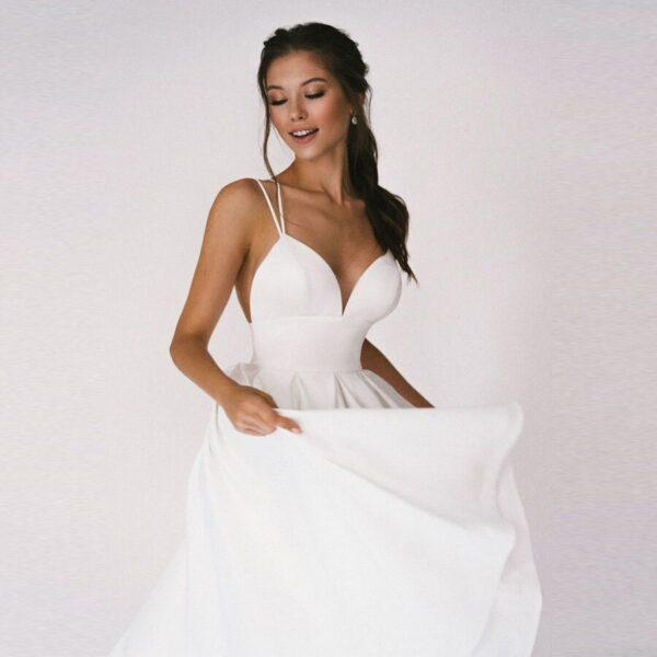 Robe De Mariage Civil Chic | Soirée Blanche