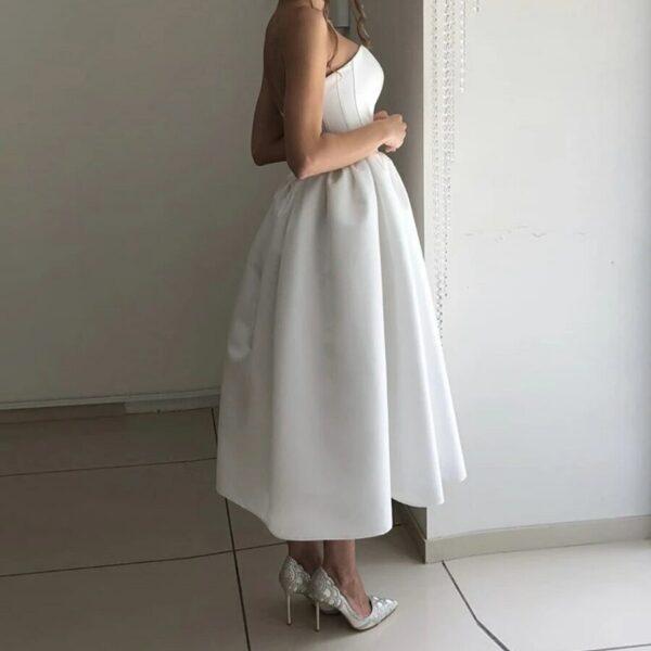 Robe De Mariée Civile Courte | Soirée Blanche