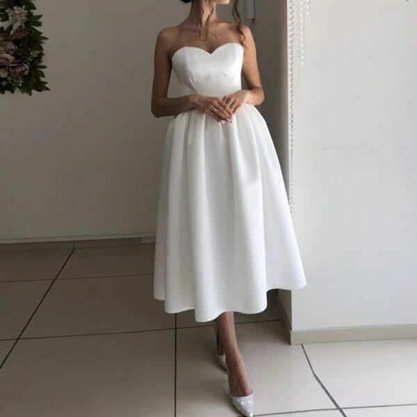 Robe De Mariée Civile Courte Blanche | Soirée Blanche