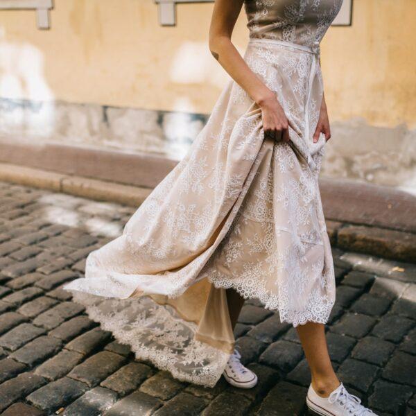Robe De Mariée Dos Nu Dentelle Blanche | Soirée Blanche