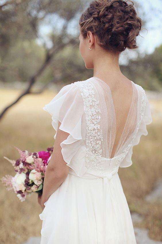 Robe De Mariée Pour Petite Blanche | Soirée Blanche