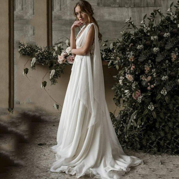 Robe De Mariée Grecque Blanche | Soirée Blanche