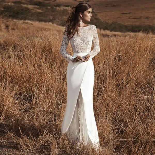Robe De Mariée Sirène Elégante Blanche | Soirée Blanche