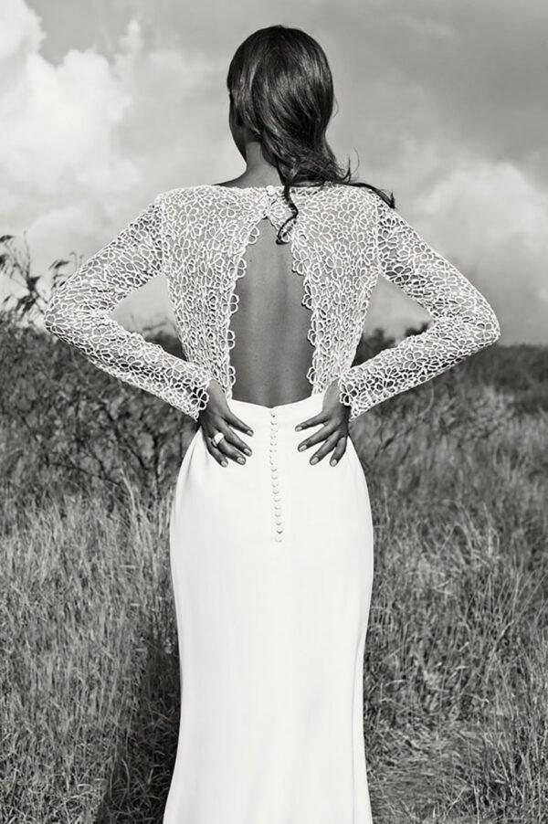Robe De Mariée Sirène Elégante Blanche