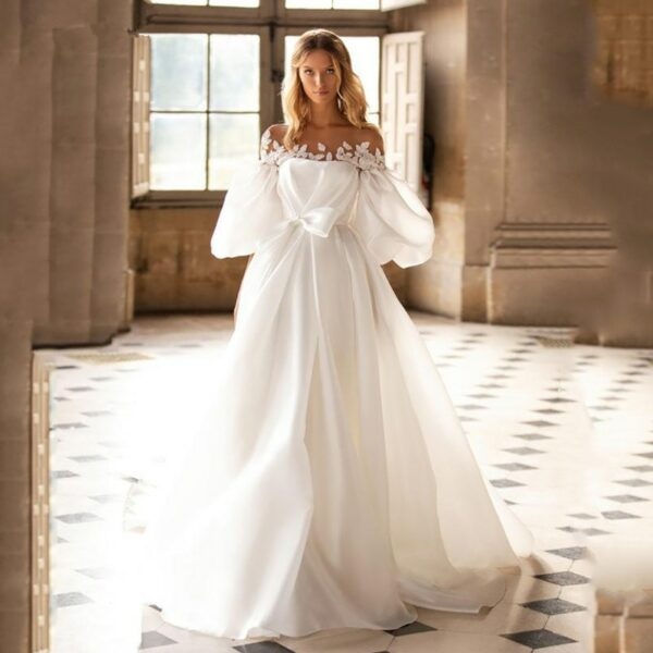 Robe De Mariée Epaule Dénudée | Soirée Blanche