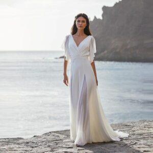 Robe De Mariée Sensuelle Blanche | Soirée Blanche
