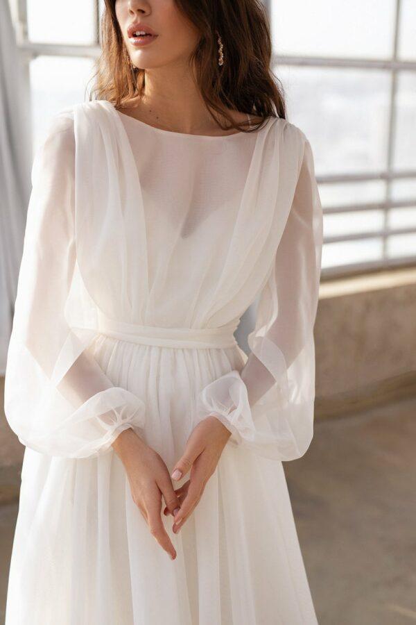 Robe De Mariée Dos Ouvert Blanche | Soirée Blanche