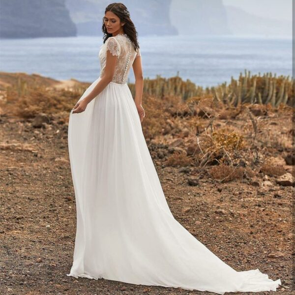 Robe De Mariée Simple Pour Mariage Civil | Soirée Blanche