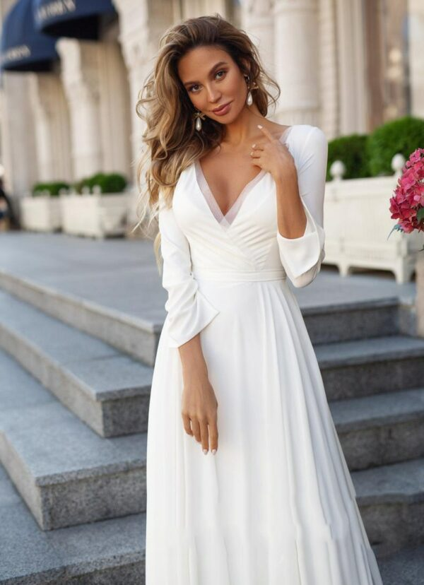 Robe De Mariée Année 70 Blanche | Soirée Blanche