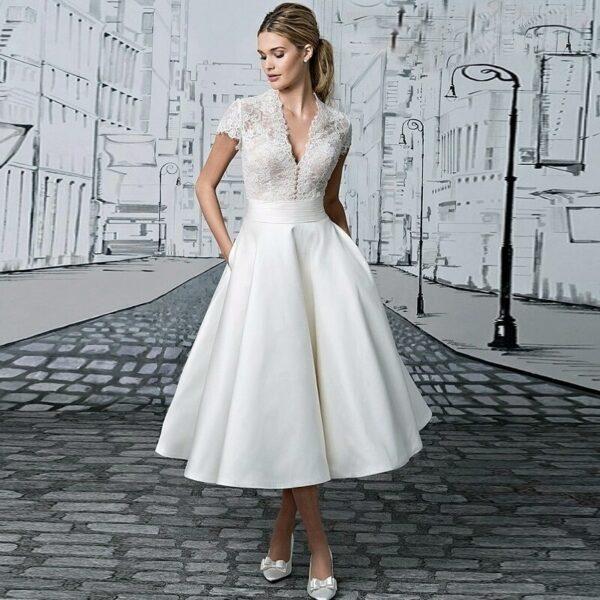 Robe De Mariée Année 40 Blanche | Soirée Blanche