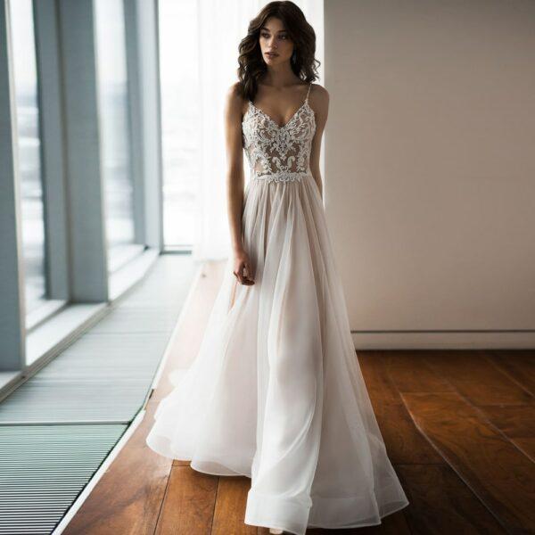Robe De Mariée Avec Perles Blanche | Soirée Blanche