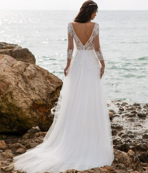 Robe De Mariée Droite | Soirée Blanche