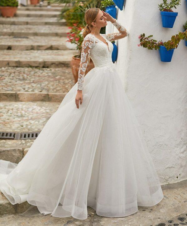 Robe De Mariée Longue Blanche | Soirée Blanche