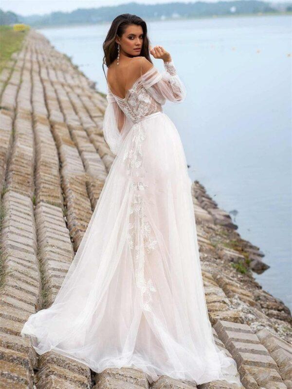 Robe De Mariée Bohème Florale Blanche | Soirée Blanche