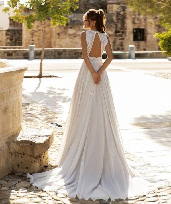 Robe De Mariée Dos Nu Bohème | Soirée Blanche