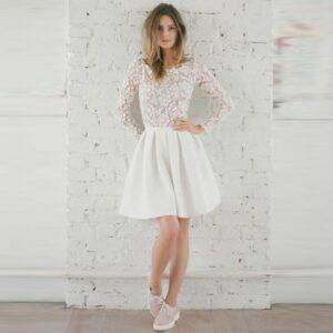 Robe De Mariée Courte Dos Nu   Soirée Blanche