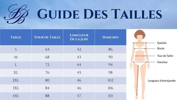 Guide des Tailles - Tailleur Pantalon Femme Blanc - jupe - Soirée Blanche