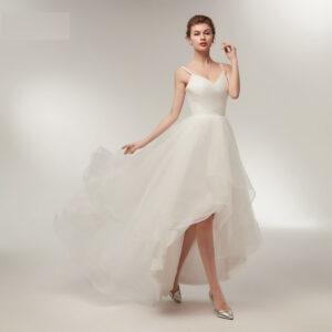 Robe De Mariée Courte Avec Laçage Blanche | Soirée Blanche