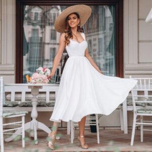 Robe De Mariée Courte Pour Mariage Civil Blanche | Soirée Blanche