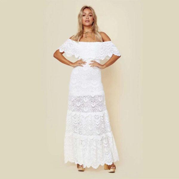 Robe Blanche Longue Bohème | Soirée Blanche