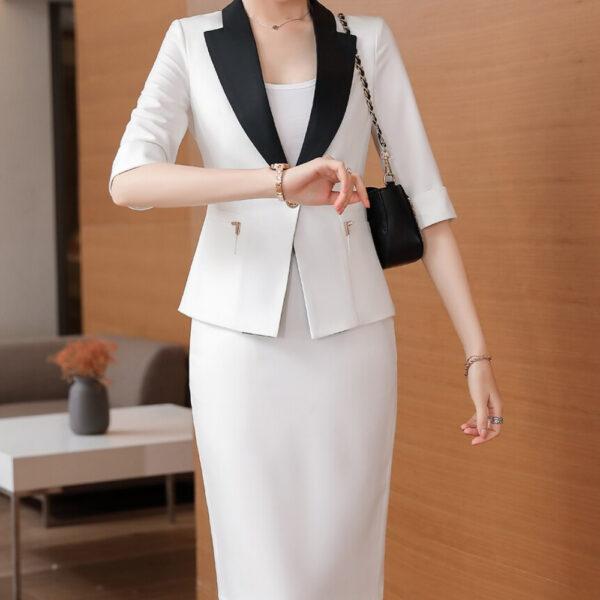 Ensemble Tailleur Blanc Femme Chic | Soirée Blanche