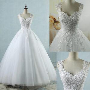 Robe De Mariée Princesse Volumineuse | Soirée Blanche